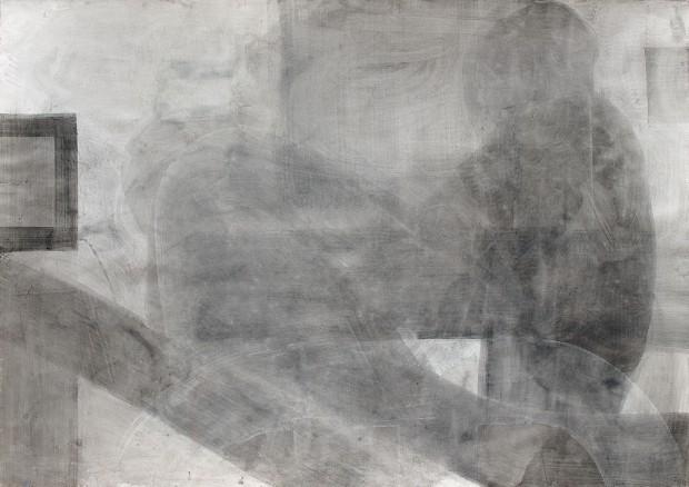 Sabine Herrmann, Grisaille, 2007, Pigmente Acryl auf Bütten, 155 x 210cm