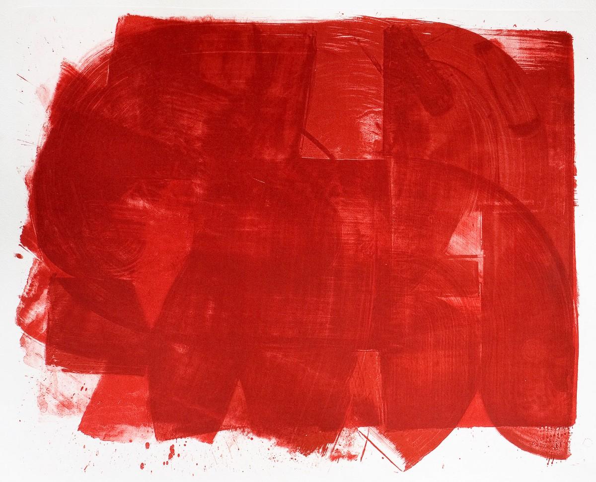 Sabine Herrmann, roter bodden, 2009, Lithografie auf Bütten, 70x90cm, Auflage 5