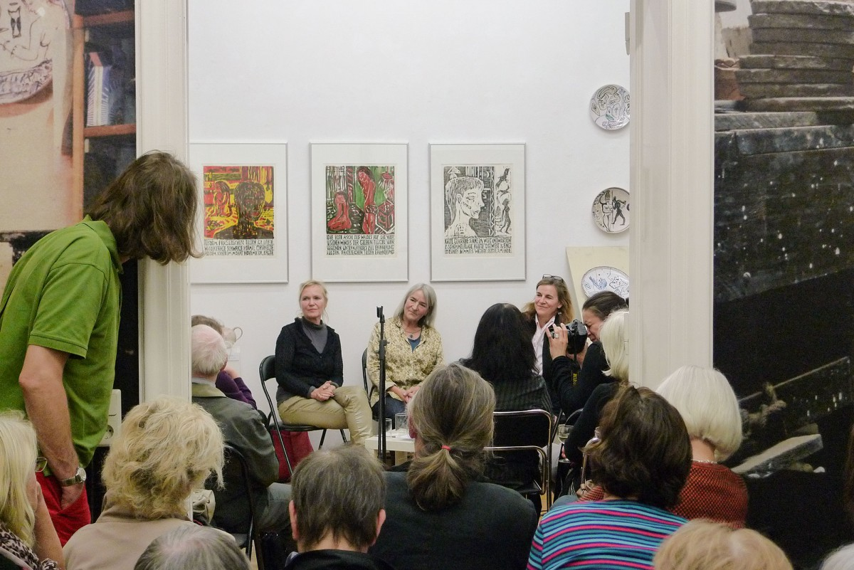 brennzeiten, 2014, Gespräch mit Wilfriede Maaß und Petra Schramm, Moderation Sabine Herrmann