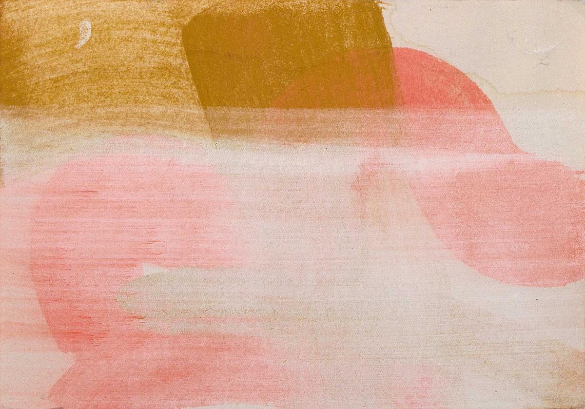 excentric pink, Pigment auf Farbpapier